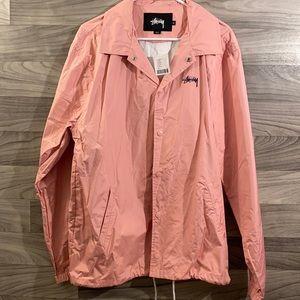 Stussy Pink Funk Coaches Jacket Size XLarge